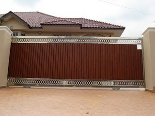 Malaysia 1st Stainless Steel Design Wooden Effect Sliding