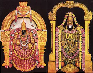 Lord Venkatesa and Sri Padmawathy