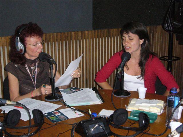 Difusion en radio de la muestra