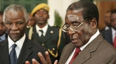 Thabo Mheki and Robert Mugabe