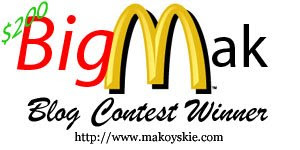 Big Mak Blog Contest 10 Consolation Prize