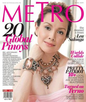 Lea Salonga Metro Magazine 20 Global Pinoys June 2009 Issue
