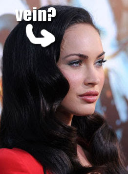 Megan Fox Veiny Head Photo
