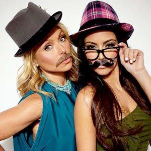 Kim Kardashian and Kelly Ripa with Moustache Photo