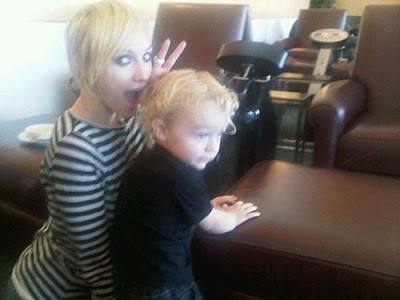 Ashlee Simpson Platinum Blonde Pixie Cut