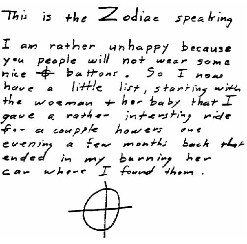 Zodiac's Letter