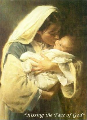 Besando el rostro de Dios.