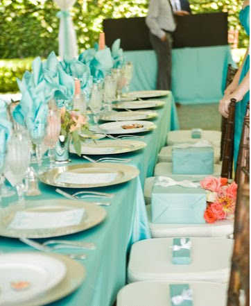 Chic Young Amp Wed Our Tiffany Blue Amp Coral Wedding
