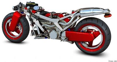 7 Ferrari Red High Power Bike
