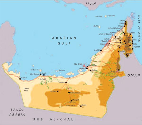 Maps Update 818512 Qatar Uae Map Doha Qatar 66 More Maps – Map of Dubai United Arab Emirates