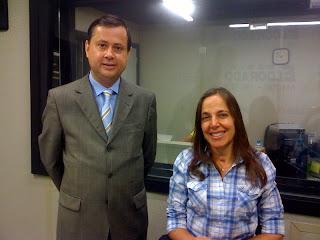 Mara ao lado de Roberto Braguim