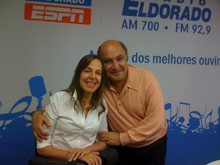 Ivaldo Bertazzo e Mara Gabrilli no estúdio da Eldorado