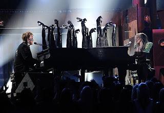 Elton John Lady Gaga Grammys 2010