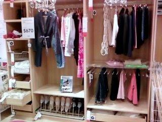 IKEA girl's closet organizer