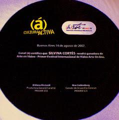 Premio Arte en video Toma 1 Canal (á) 2007