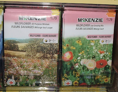 [Photo: McKenzie wildflower seed mixtures: Low-Growing and All Purpose.]
