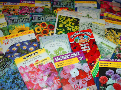[Photo: just some of the seed packets I've accumulated.]