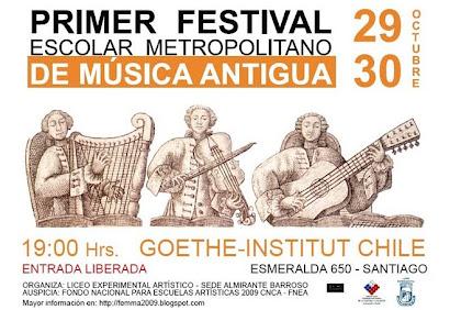 Primer Festival Escolar Metropolitano de Música Antigua FEMMA 2009