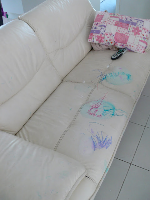 ruined couch, vandals