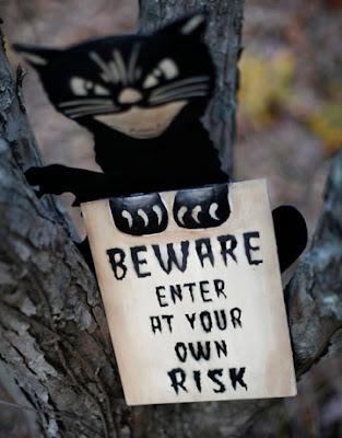 Halloween Cat Sign