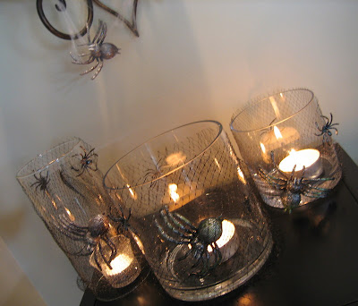 DIY Recycled Spider Web Candles