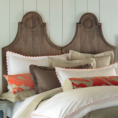 Unique headboards gingham pearls for Unique king headboards