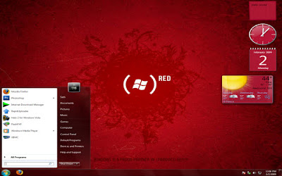 windows 7 red hot color theme