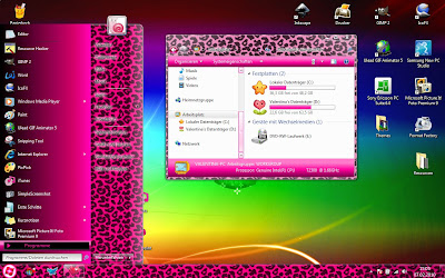 Ladies Windows 7 Theme Exclusive Pink Version