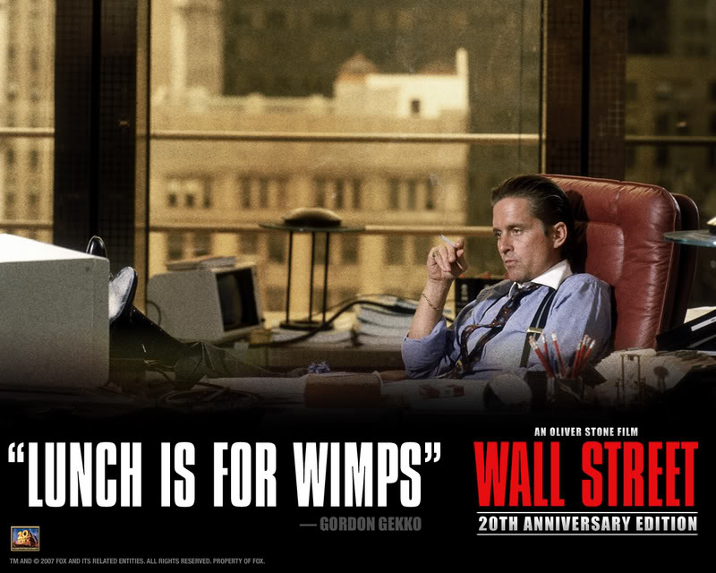 "Wall Paper of the Week ""Gordon Gekko"". If you read this blog then you are"