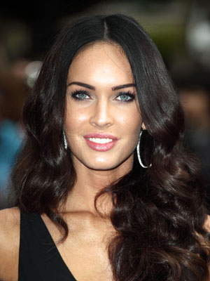 megan fox hair updos. megan fox hair color dye.