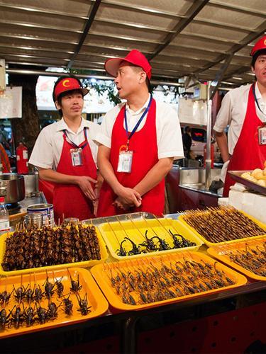 makanan ekstrim Di Wangfujing Street