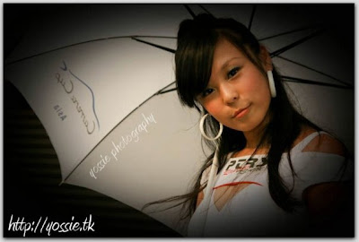 hot girl as umbrella girl