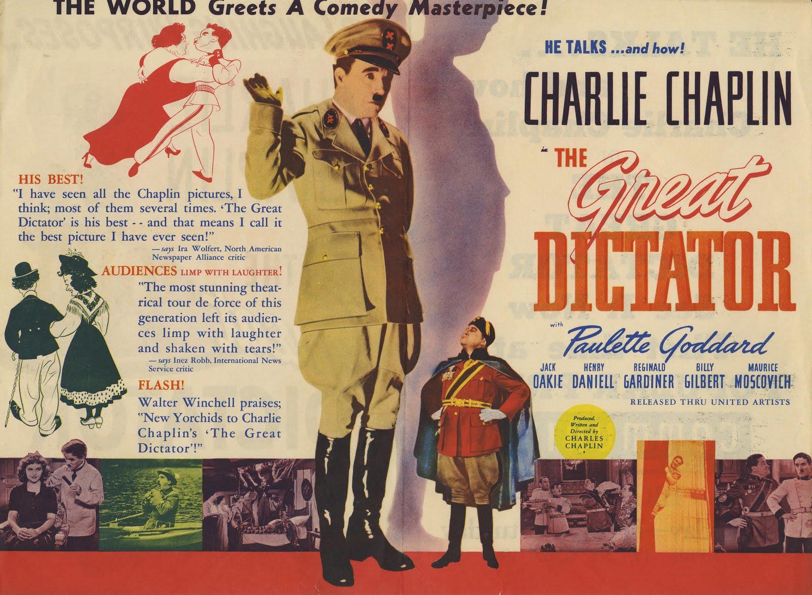 Filmografía de Charles Chaplin 1940_EL_GRAN_DICTADOR_poster