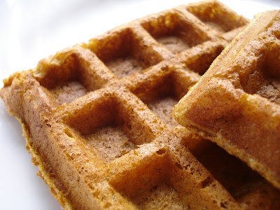 Pumpkin Waffles I One Lovely Life
