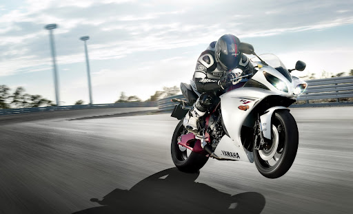 una increible Moto Yamaha
