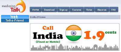 Mediaringtalk Call India at 1.9 cents