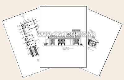 Contoh Gambar Kerja Gratis Rumah Mungil Minimalist Pada Lahan 6x14 meter