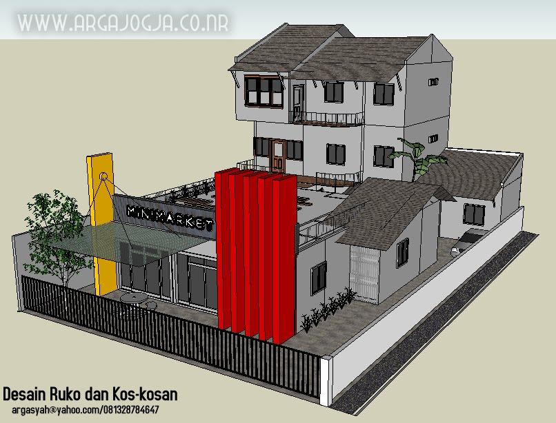 """Response to """"Desain Sketch Ruko dan Kos-Kosan Pada Lahan 16x27 Meter"""