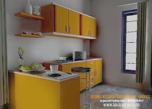 Desain Interior Dapur Kecil Sudut