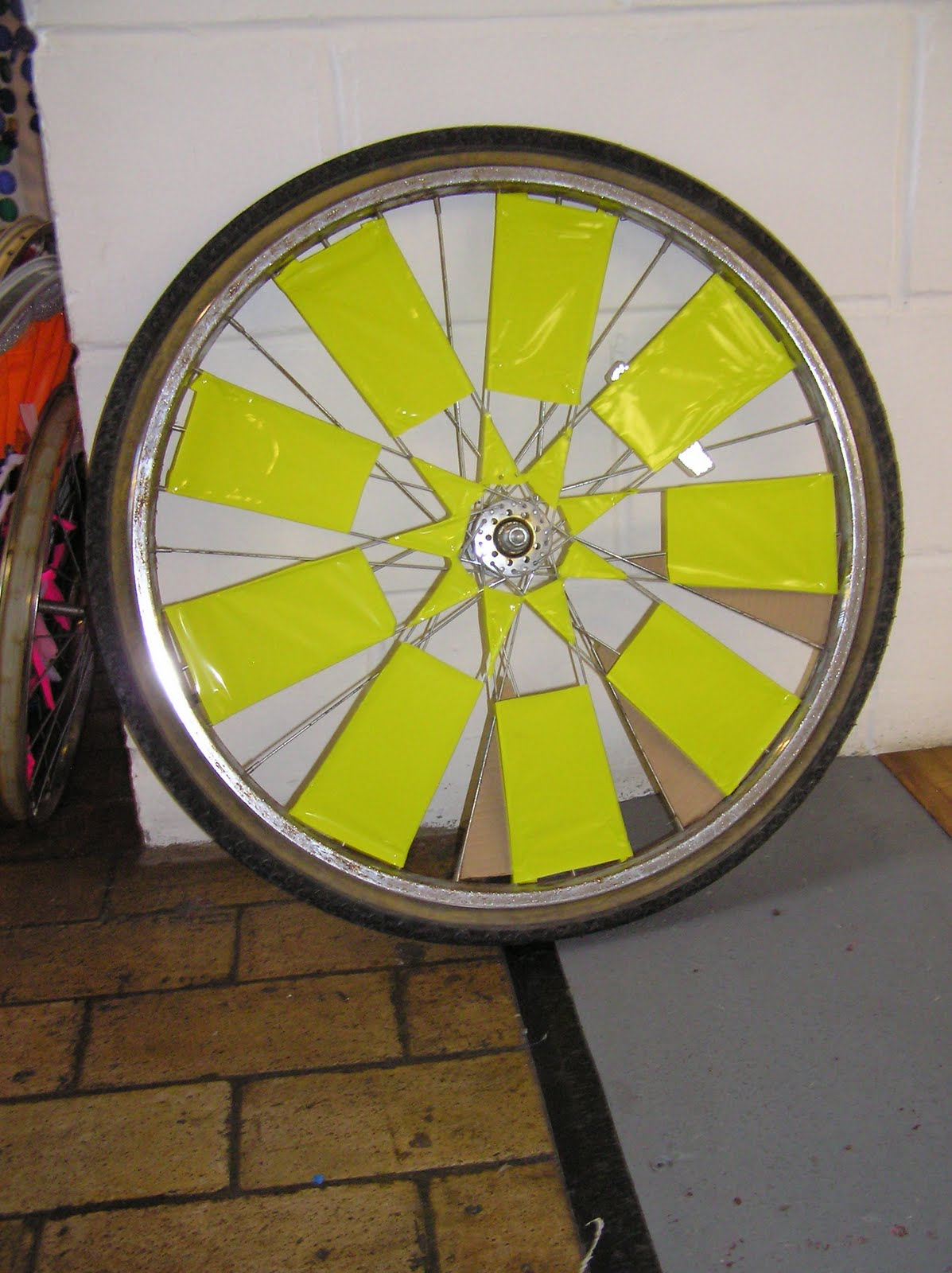 my first bicycle school of art  scraper wheels