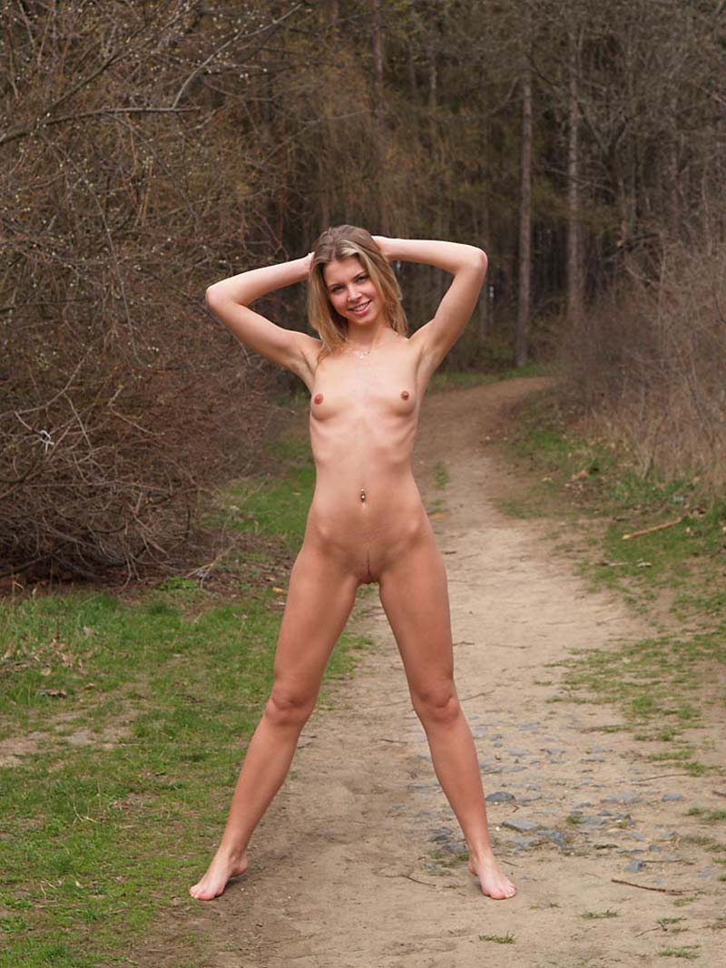 walking a nude slave girl