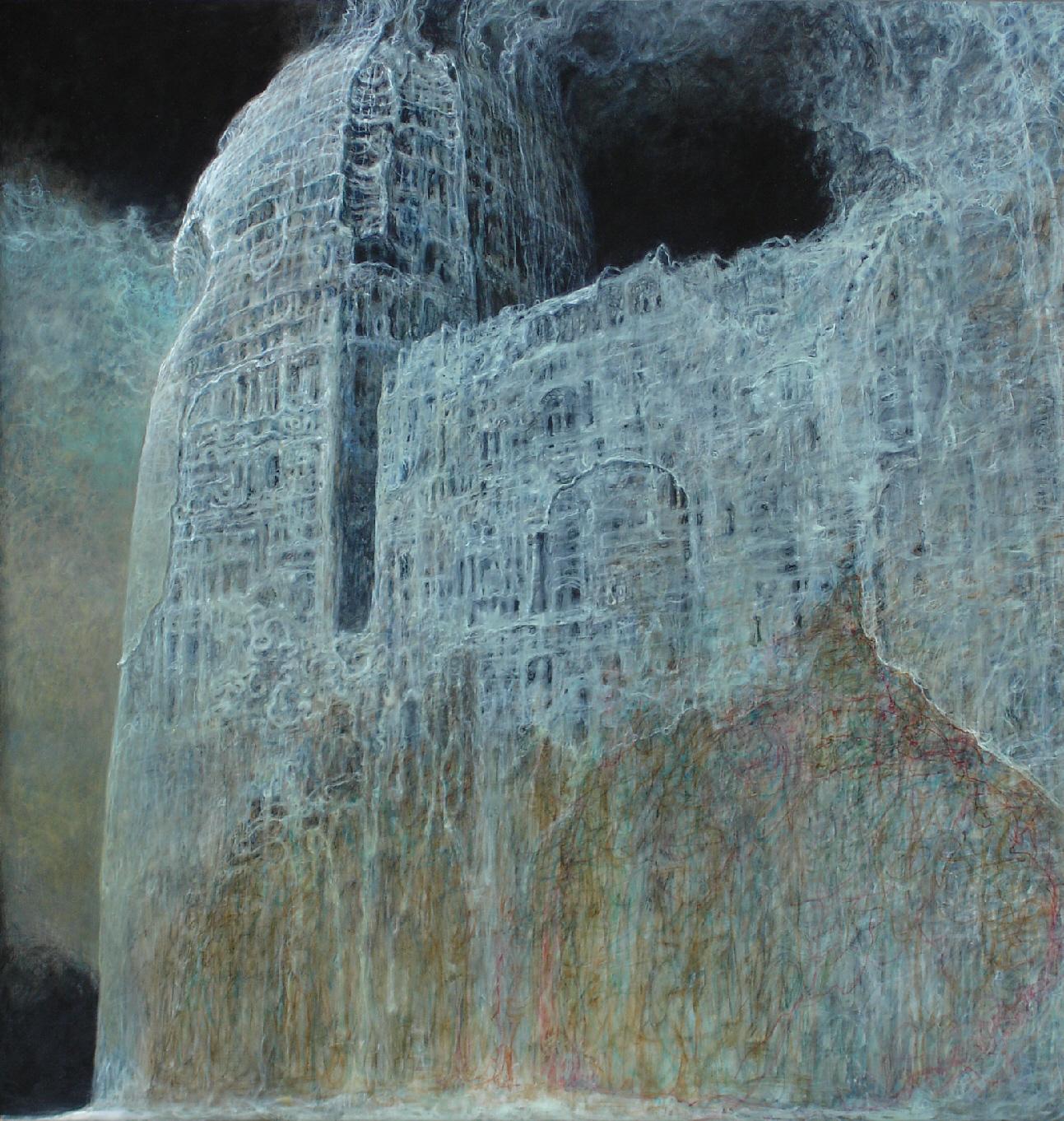 beksiński obraz 2000