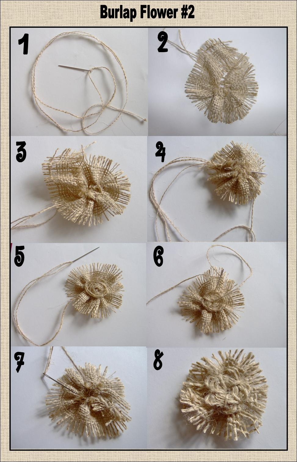 Today 39 s fabulous finds 3 burlap flower tutorials for What to make with burlap