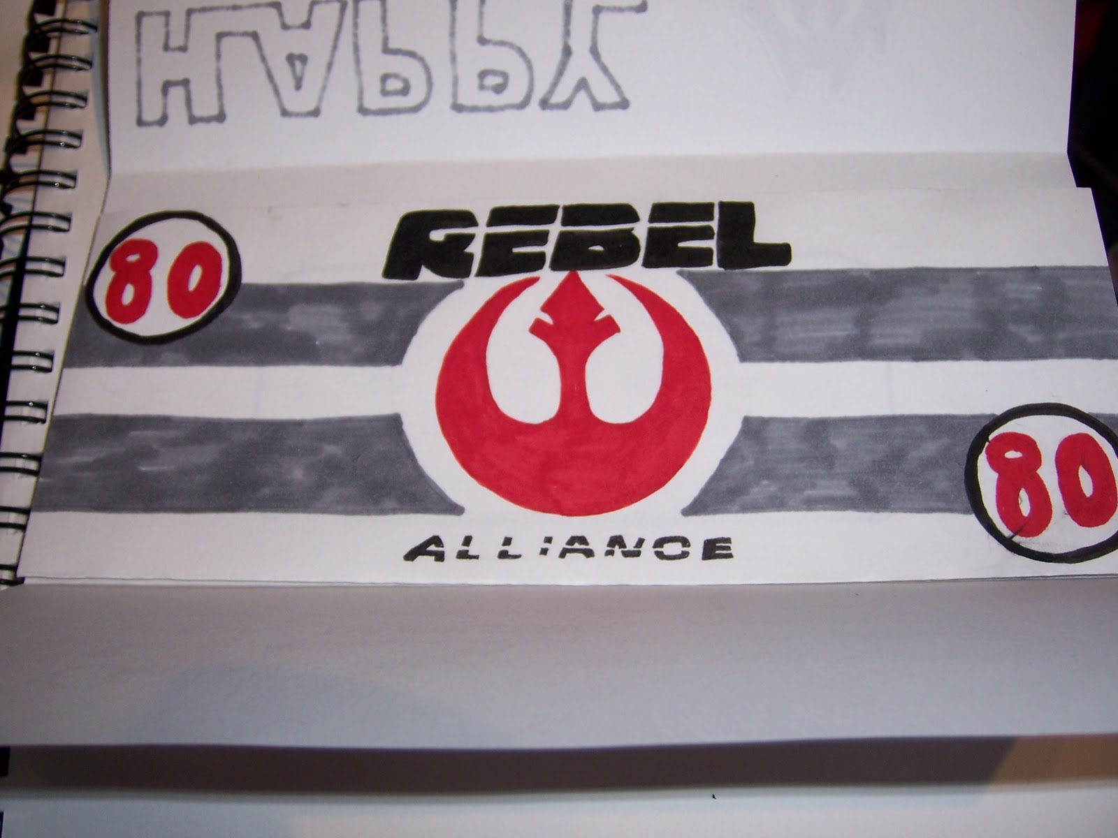 outside of a dog homemade star wars birthday card and gift 80 credits issued by the rebel alliance