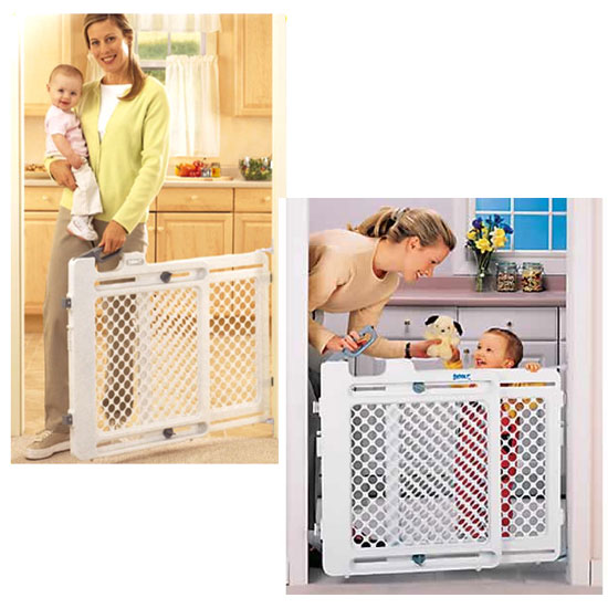 safety 1st baby gate how to open
