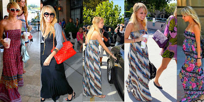 Shirt Maxi Dress on When Its Comes To Maxi Dresses Nicole Richie Breaks The  Maxi Dress