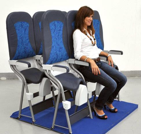 Skyrider budget airline saddle seats