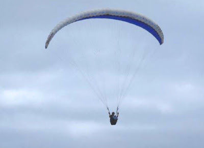 soaring in a paraglider