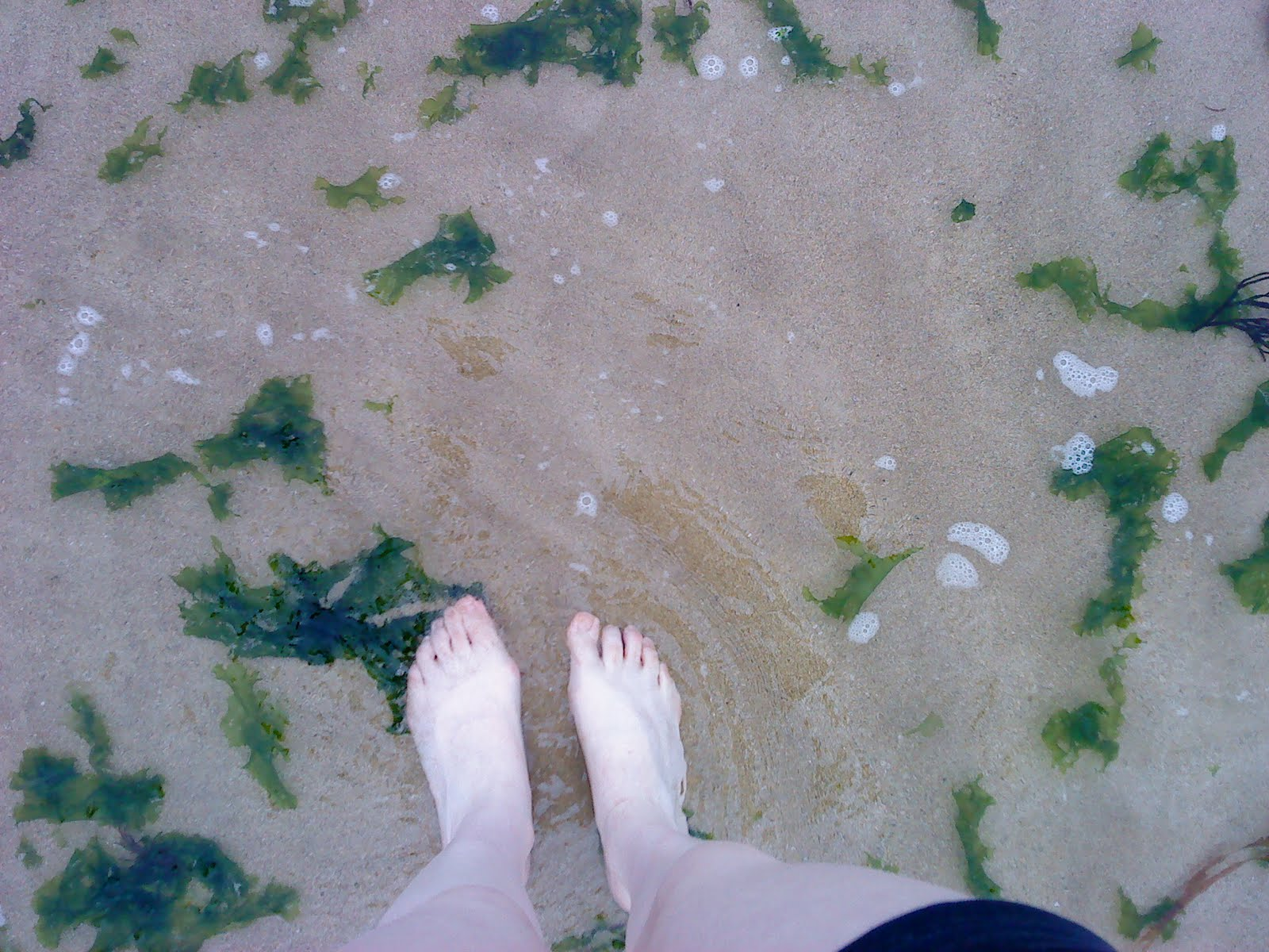 Ana's little feet in the water, on Sunday