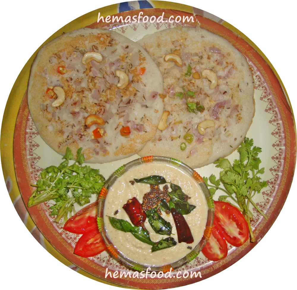 Indian food recipes hemas kitchen uthappam is another famous south indian recipe which is normally used as breakfast here is the procedure for preparing delicious onion uthappam and coconut forumfinder Images